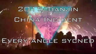 Tianjin, China Explosion Synced Up