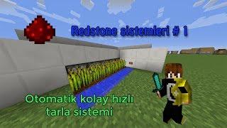 Minecraft RedStone İcatları #1 | Basit Farm Yapımı