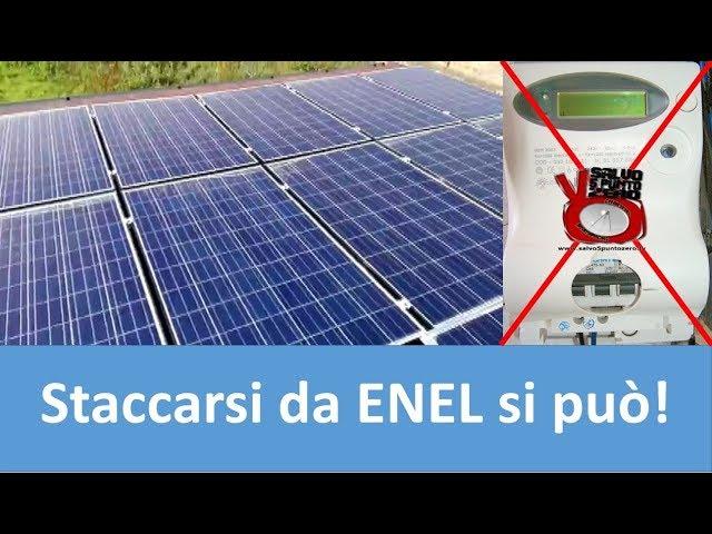 Tutorial: impianto FV ad isola. Staccarsi dall'Enel si può!