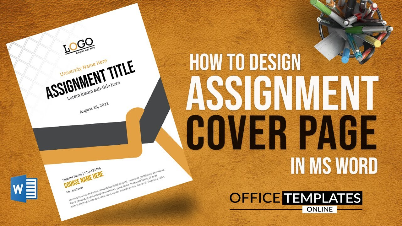 How to do a Cover Page Design for Assignment in MS Word  DIY - Microsoft  Word Tutorial Regarding Cover Pages For Word Templates