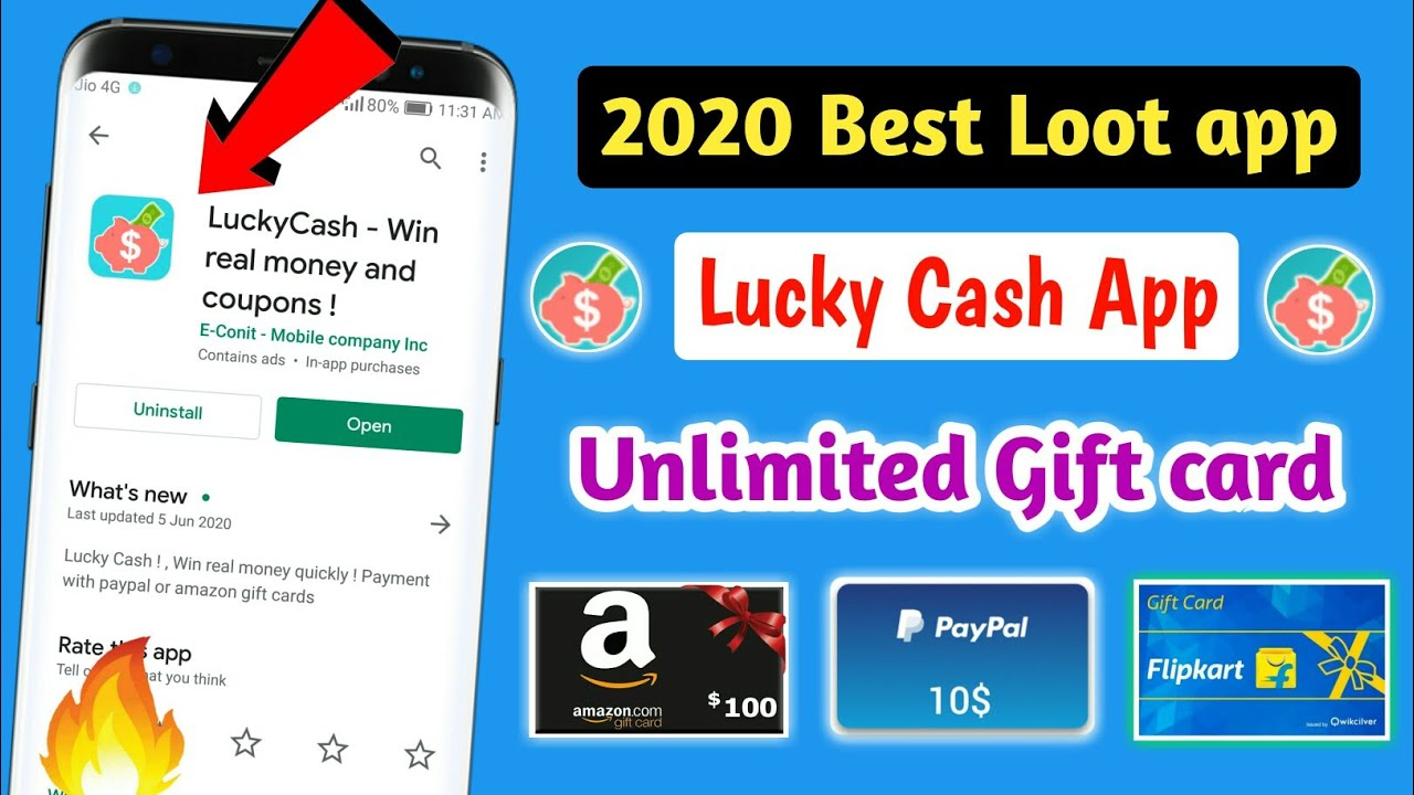 Lucky Cash Win Money Lucky Cash Payment Proof Lucky Cash App Sponsorship Code Amazon Gift Card Youtube