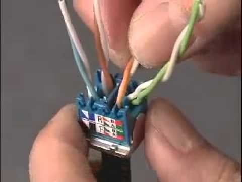 modular phone wiring diagram modular jack wiring diagram panduit cat6a shielded jack tx6 10gig youtube #8