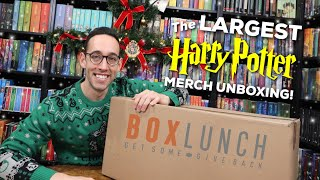 THE LARGEST HARRY POTTER MERCHANDISE UNBOXING | BoxLunch 12 Days of Giving