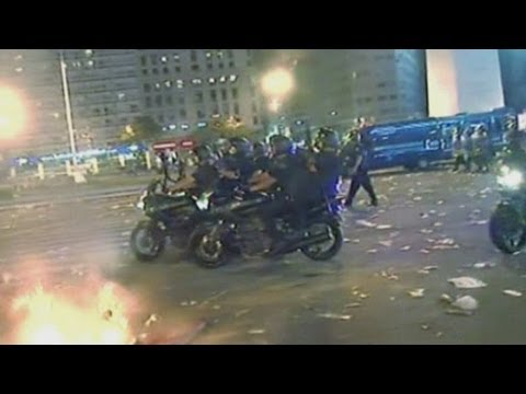 Argentinian riots: Boca Juniors football fans clash with police