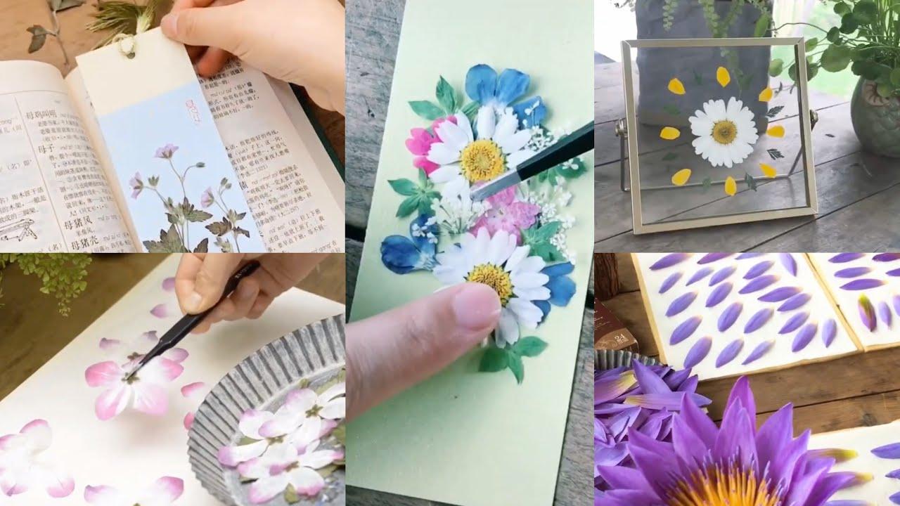 Hướng dẫn các bước cơ bản làm hoa ép khô trang trí bookmark, vở,…đơn giản- Nhã Di Các
