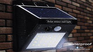 Solar Powered Waterproof Outdoor LED Solar Light With PIR Motion Sensor