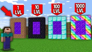 Minecraft NOOB vs PRO: WHICH RAREST PORTAL WILL NOOB UNBLOCK FOR 1000LVL VS 100LVL VS 10LVL VS 1LVL?