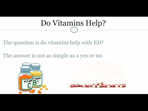 Vitamins and Erectile Dysfunction