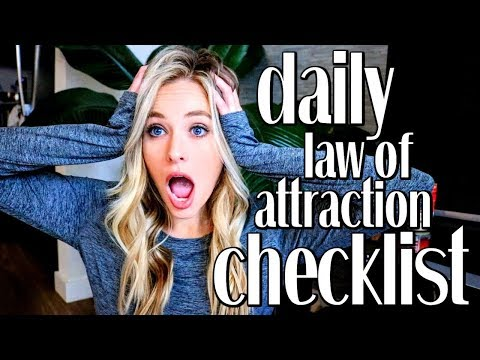 DAILY LAW OF ATTRACTION CHECKLIST TO MANIFEST FASTER   Printable Checklist // Simply Ney