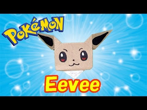 Pokemon Origami Eevee Easy but Cute Tutorial   How to Make a Paper Eevee with Onr Piece of Paper
