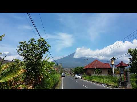 Today Oct 16th,2017 Mount Agung Bali [ Bali Volcano ] is seen from Amed