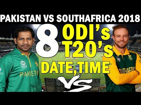 Pakistan vs South Africa 2018 19 full schedule ,Venues