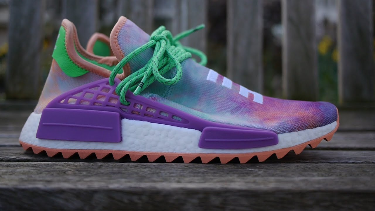d871a28a218 Adidas x Pharrell Williams NMD Hu Trail 'Holi' Quick Look & On Feet (Chalk  Coral)