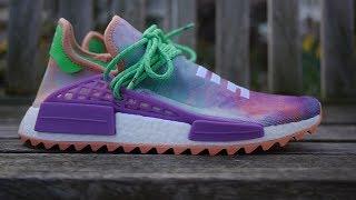 online store 643d4 25dc3 Adidas x Pharrell Williams NMD Hu Trail 'Holi' Quick Look & On Feet (Chalk  Coral) by Samuel Sagua