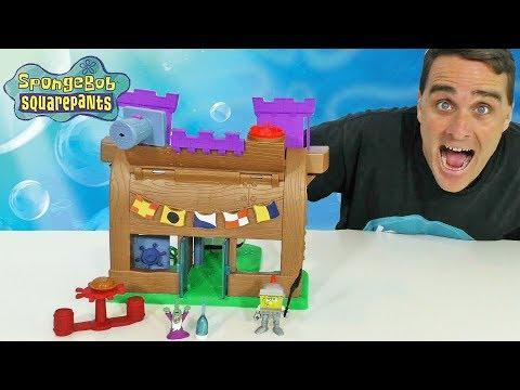 Imaginext SpongeBob Krusty Krab Kastle Playset ! || Toy Review || Konas2002