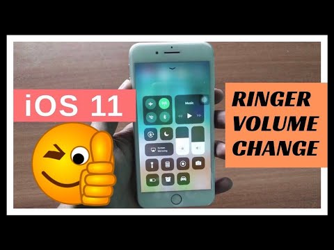 How to Change Ringer Volume using Volume Key in iOS 11 | iOS 11 | turn up ringer volume | India