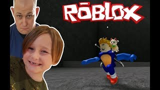 RACING MY DAD! [Roblox Speed Run 4] KID VS PARENT! Who will win?!?!