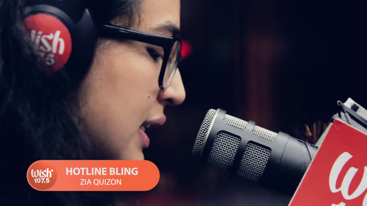 Zia Quizon covers  Hotline Bling  Drake LIVE on Wish 107 5 Bus
