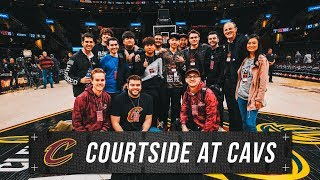 100 THIEVES COURTSIDE AT CAVS PLAYOFFS
