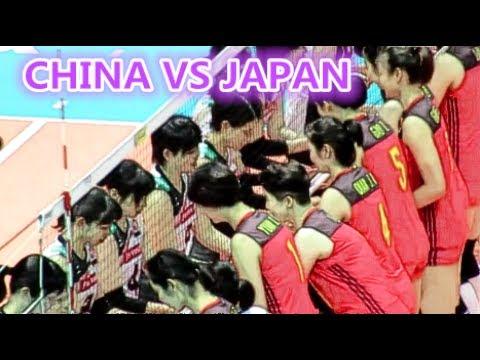 中國女排對日本賽前熱身片段 CHINA VS JAPAN @FIVB世界女排大獎賽 – 2017香港站 - YouTube