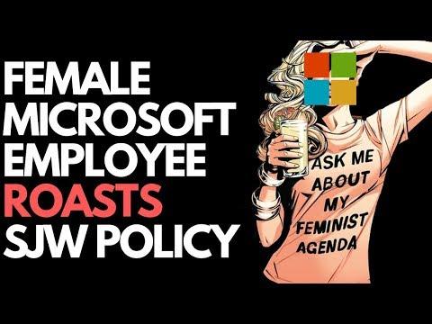 Female Microsoft Employee