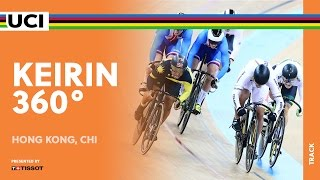 Inside a Keirin Race - 360 video