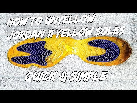 How To Unyellow Jordan 11 Yellow Soles (Quick & Simple)