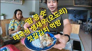 태국식생새우(오도리)젓갈김치먹방/타이이싼가정식'…
