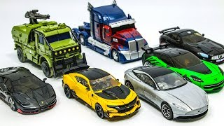 Transformers 5 Autobots Bumblebee Optimus Prime Hound Hotrod Crosshairs Drift Cogman Car Robot Toys streaming