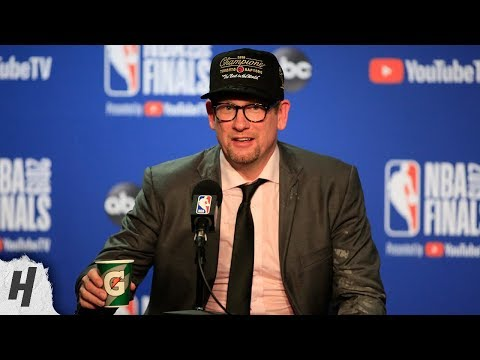 The Morning Rush with Travis Justice and Heather Burnside - Nick Nurse Postgame Interview After Winning NBA Championship