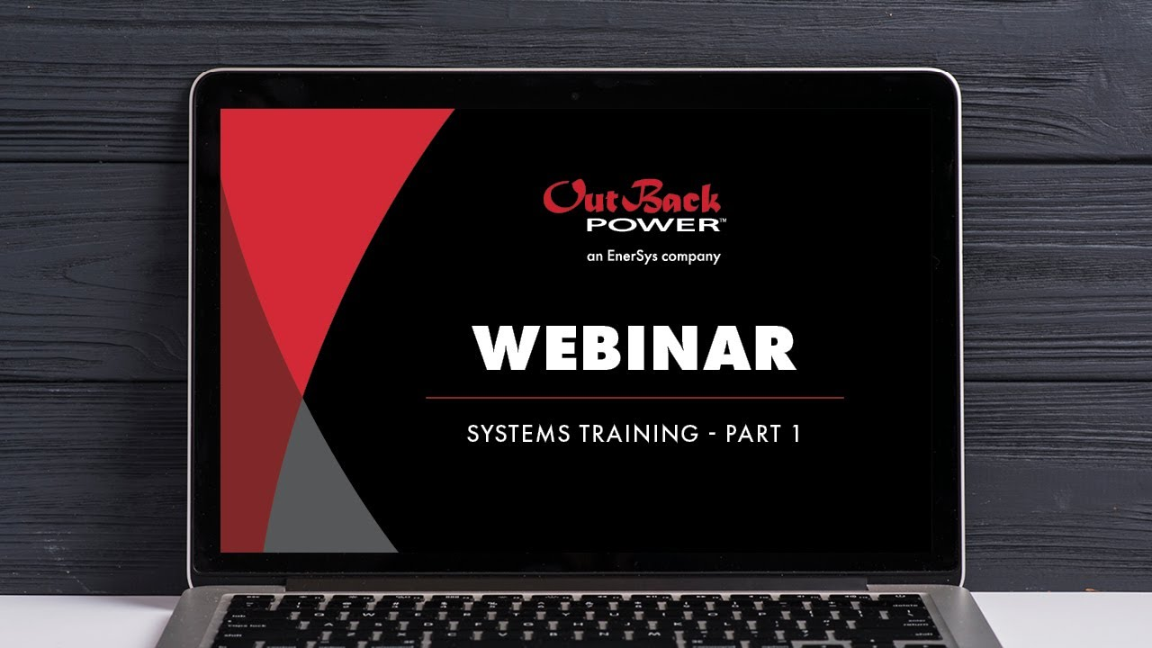 webinar outback power training part 1 [ 1280 x 720 Pixel ]