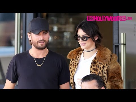 Kendall Jenner & Scott Disick Have Lunch At Il Pastaio & Go Shopping At Barneys 10.12.16