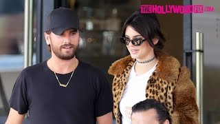 Kendall Jenner & Scott Disick Have Lunch At Il Pastaio & Go Shopping At Barneys