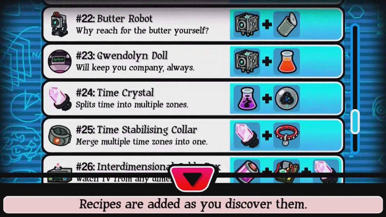 All Crafting Recipes Pocket Morty