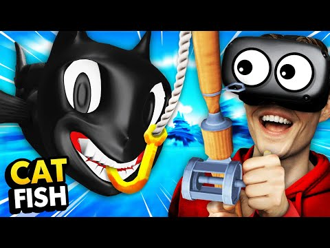 NEW Fishing For CARTOON CAT FISH In VIRTUAL REALITY (Crazy Fishing VR Funny Gameplay)