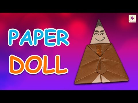 Origami Doll | DIY Beautiful Paper Doll For Kids | Periwinkle