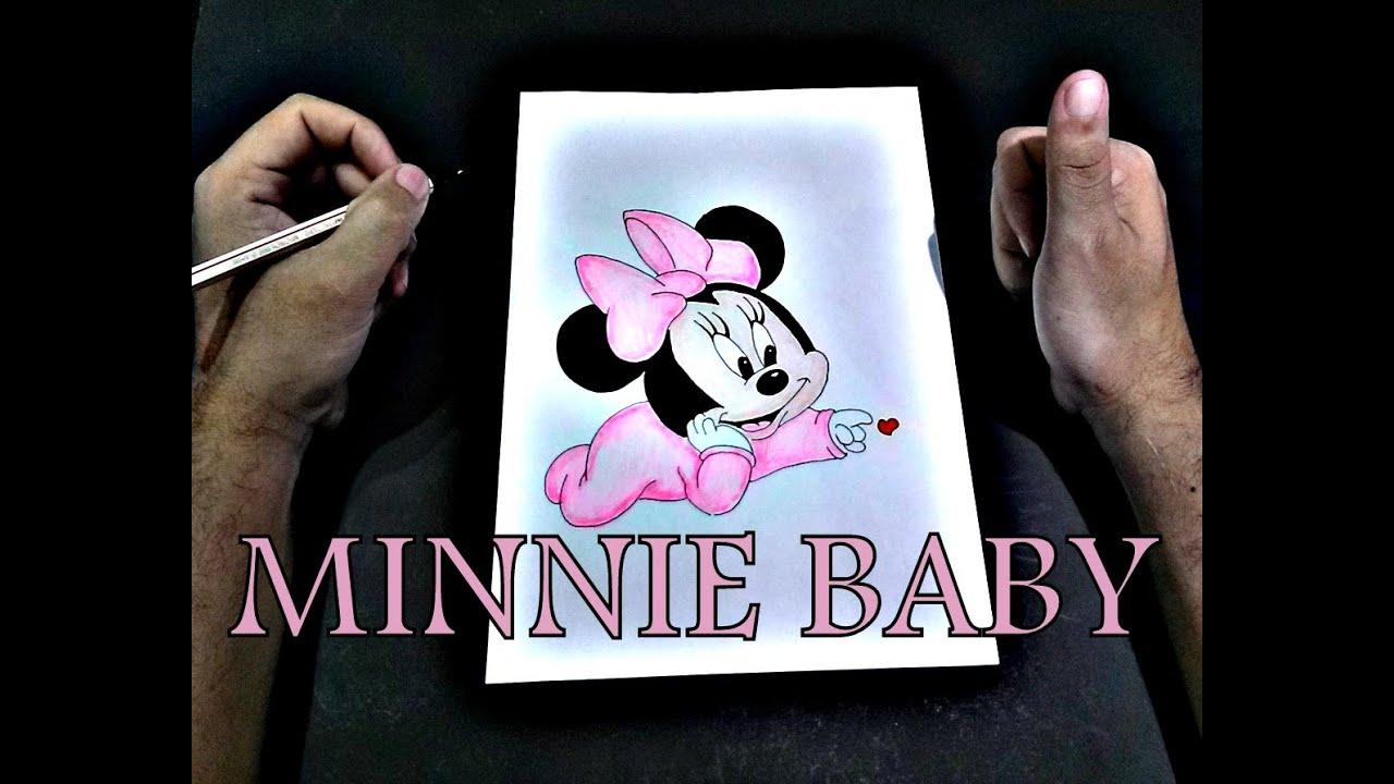 como desenhar minnie bebe how to draw A MINNIE como dibujar A
