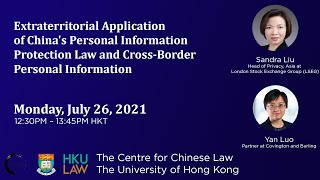 Extraterritorial Application of China's Personal Information Protection Law