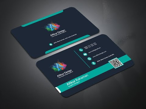 Corporate Business Card Design | Photoshop Tutorial thumbnail