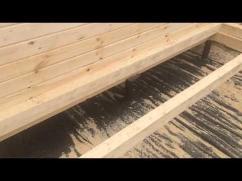 Баня из бруса, соединения, показываем качество сборки и работы