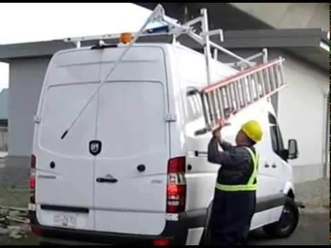 Mercedes Sprinter Van Drop Ladder Rack Demo Sterling