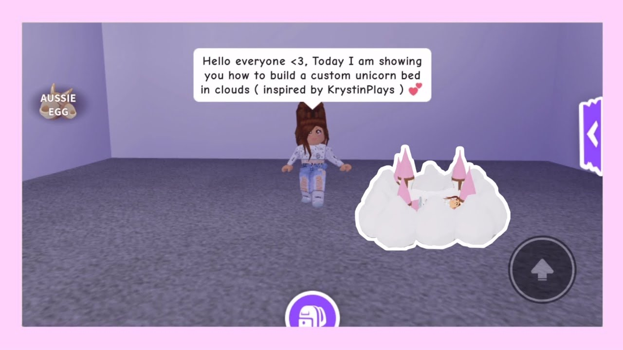 Adopt Me Unicorn Bed On Clouds Build Youtube