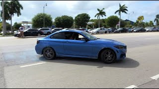 INSANE DRIFTS, Revs, Accelerations, Pullovers at Cars and Coffee Palm Beach! [Part 3]