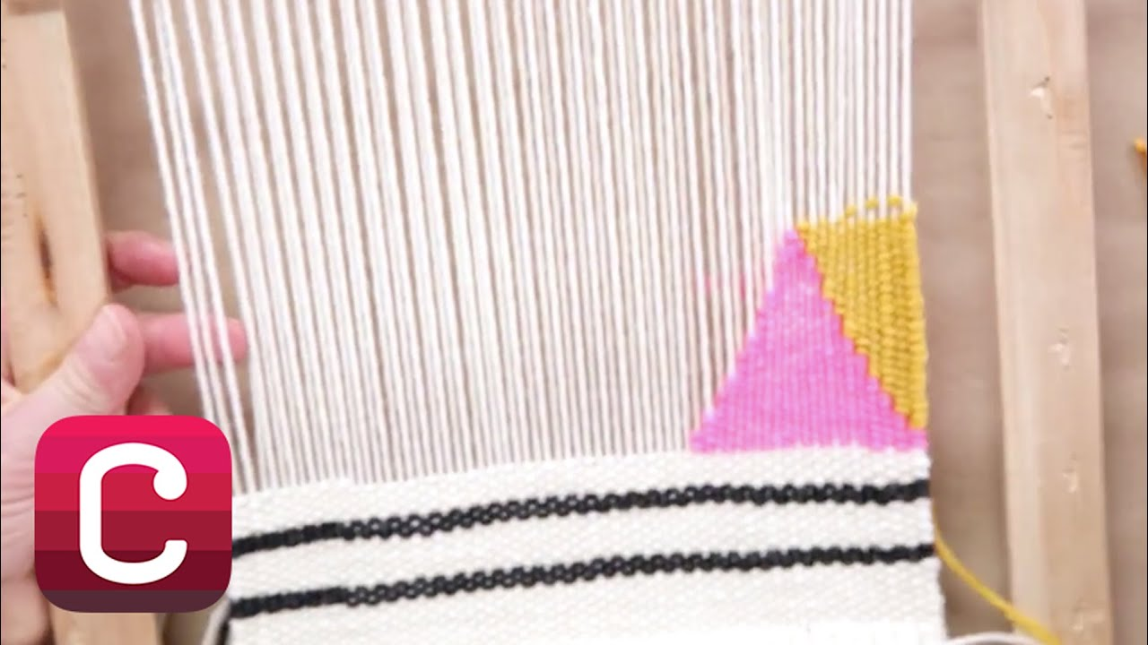 Weaving for Beginners Part 4: Add Stripes and Geometric Shapes with ...