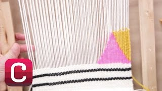 Weaving for Beginners Part 4: Add Stripes and Geometric Shapes with Annabel Wrigley | Creativebug