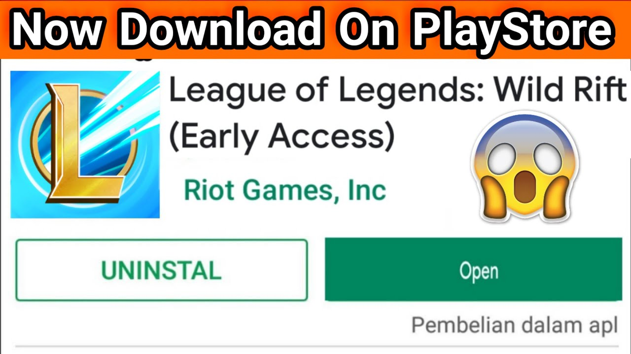 Official Download League Of Legends Mobile Android Playstore Youtube