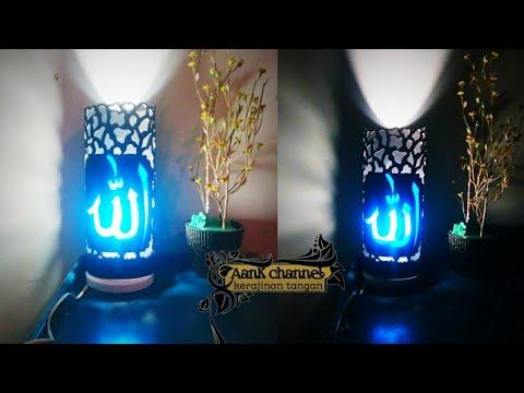 Ide kreatif cara buat lampu hias dari pipa PVC bekas | kerajinan tangan