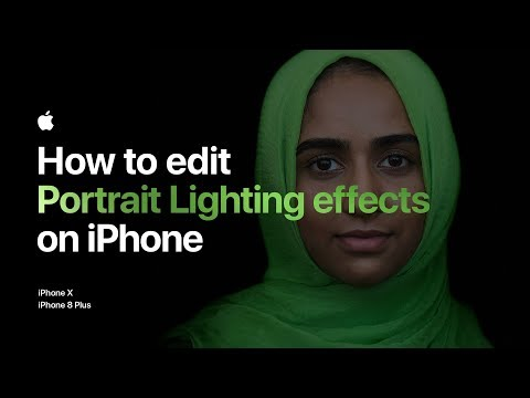 Thumbnail: How to edit Portrait Lighting effects on iPhone 8 Plus — Apple