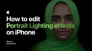 How to edit Portrait Lighting effects on iPhone 8 Plus — Apple