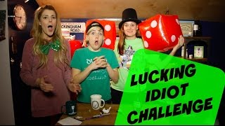 LUCKING IDIOT CHALLENGE (ft Hannah Hart & Mamrie Hart) // Grace Helbig